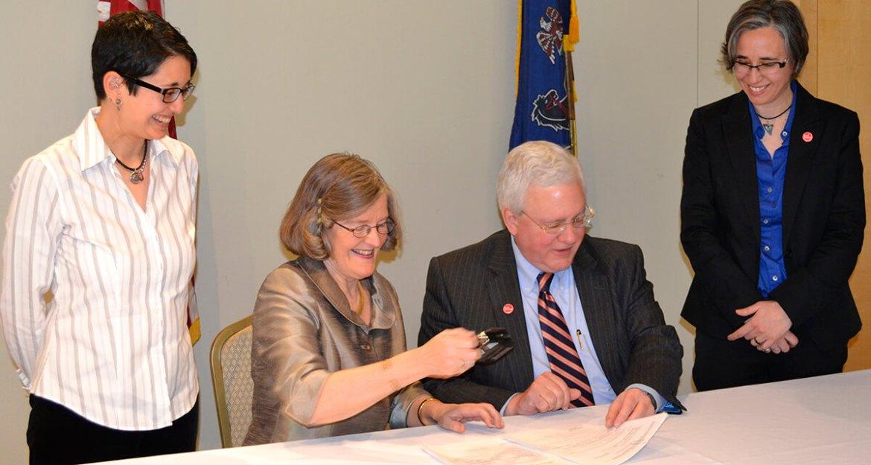 Pennsylvania B Corporation signing